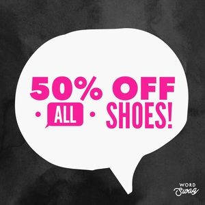 50% off all shoes!